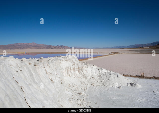 Iran,Maharlu Lake,Salt - Stock Image
