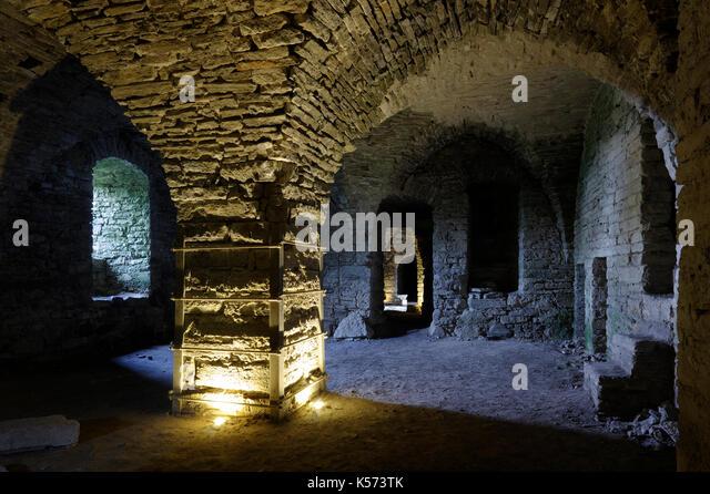 Maasilinna Castle. Inside view.  Orissaare Parish, Saare County, Estonia. 30th August 2017 - Stock Image