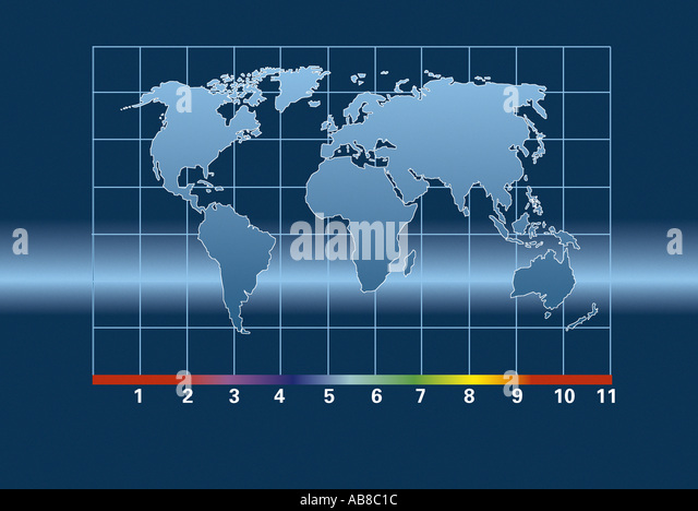 Map of the world - Stock Image