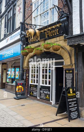 The Golden Fleece, haunted Pub York, England, June - Stock Image