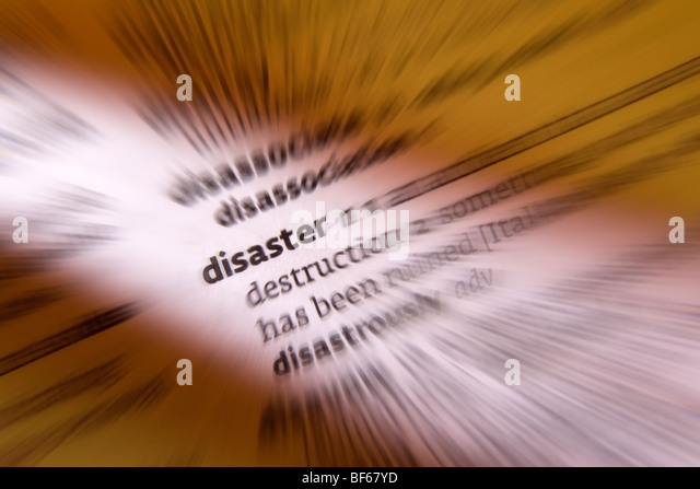 Concept - Disaster - Stock Image