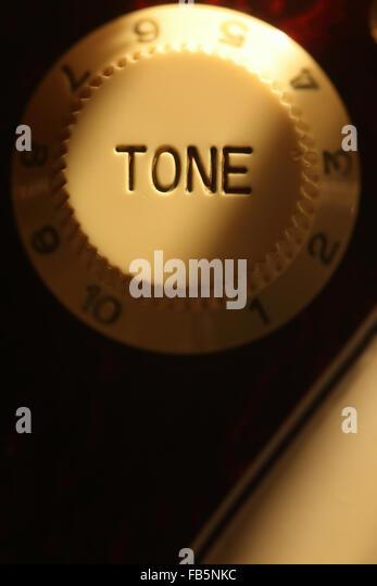 Tone control knob on Fender Stratocaster - Stock Image