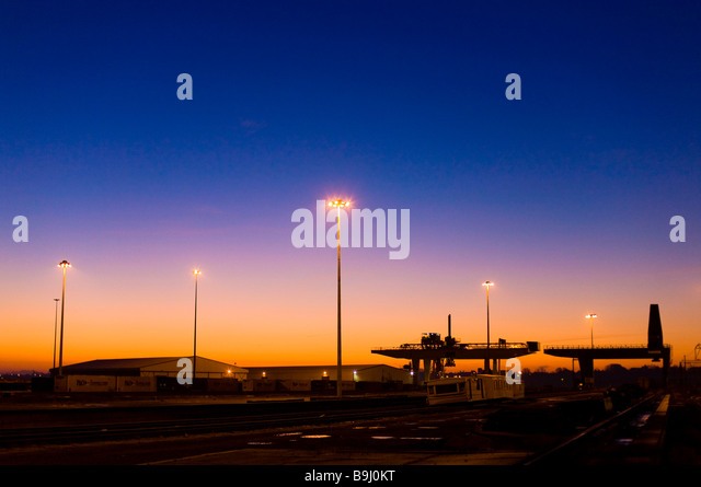 Harwich Harbour at dawn, England, Great Britain, Europe - Stock-Bilder