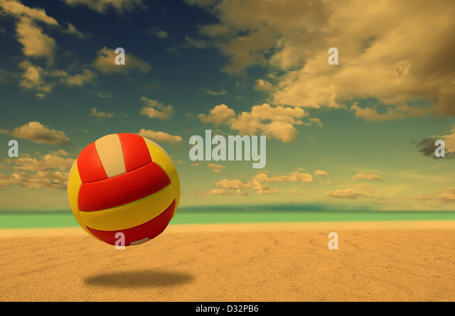 Beach Volleyball - Stock Image