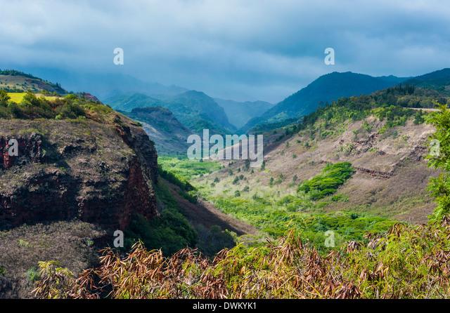 Hanapepe Valley lookout, Kauai, Hawaii, United States of America, Pacific - Stock Image
