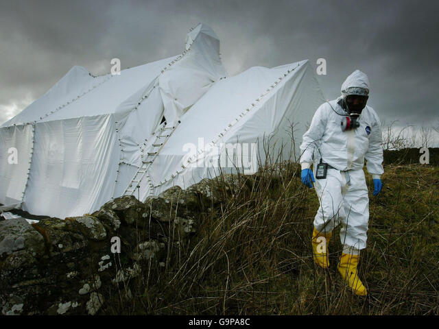 Decontamination of Anthrax buildings - Stock Image