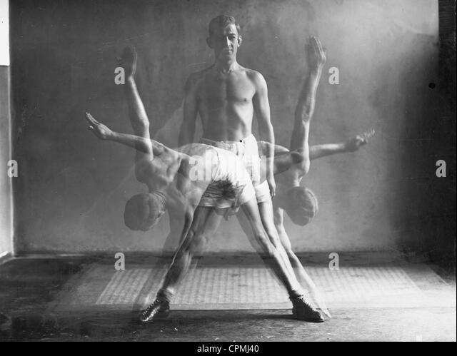 Gymnastics, 1926 - Stock Image