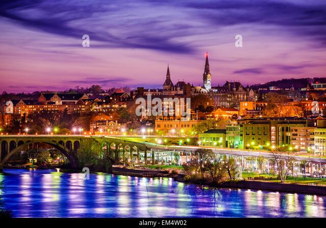 Georgetown, Washington, D.C., USA on the Potomac River. - Stock Image