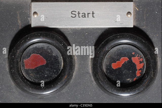 startbutton of old nuclear reactor R1 in Stockholm - Stock Image