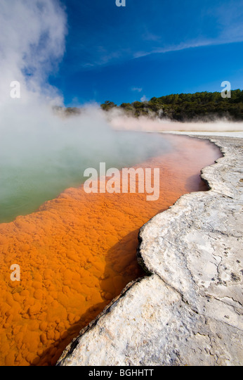 Wai-O-Tapu Thermal Wonderland, North Island, New Zealand - Stock Image