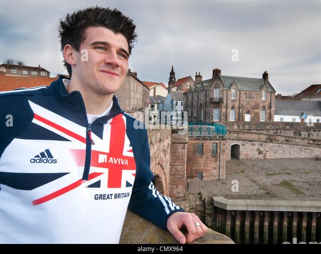 Olympic hopeful Guy Learmouth - Stock Image