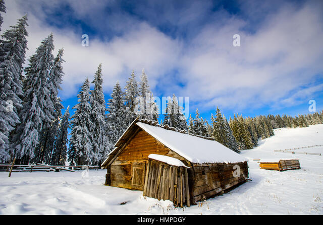 Beautiful Swiss Architecture In Winter Stock Photos