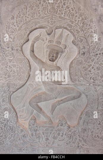 Apsara dancers stock photos images