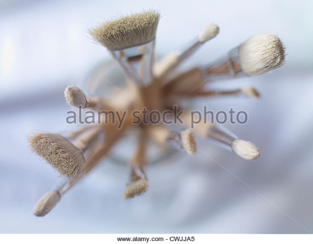 Close up of a variety of paintbrushes - Stock Image