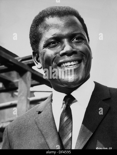 Sidney Poitier, Portrait, On-Set of the Film, 'To Sir, With Love', 1967 - Stock Image