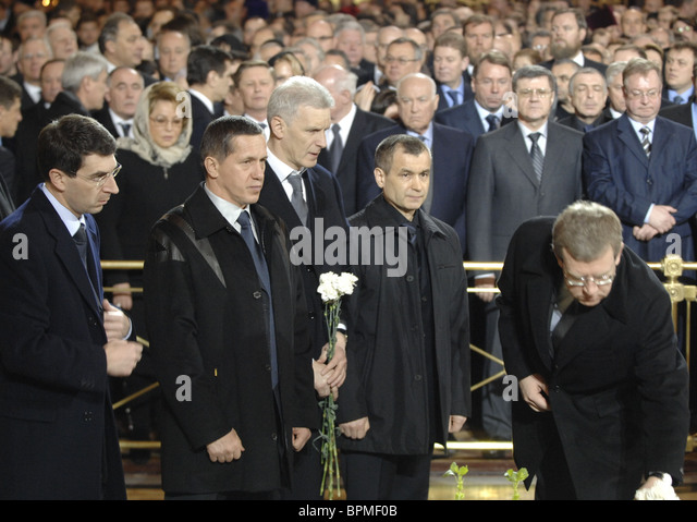 Funeral service for Patriarch of Moscow and All Russia Alexy II - Stock Image
