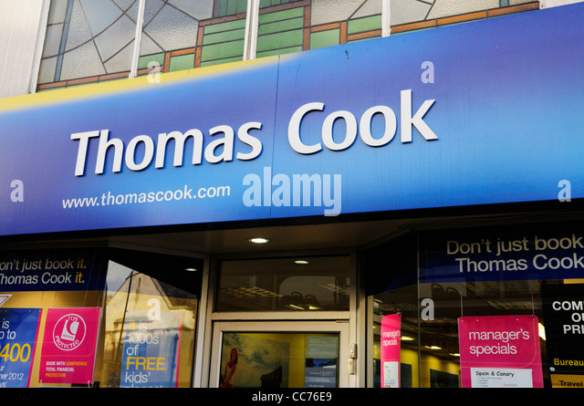 Thomas Cook Travel Agents, Cambridge, England, UK - Stock-Bilder