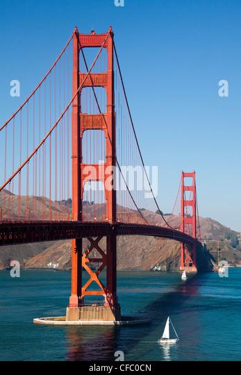 USA, United States, America, California, San Francisco, City, Golden Gate Bridge, architecture, bay, bridge, cables, - Stock Image