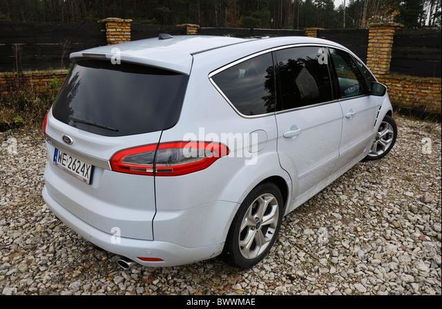 Ford S-MAX 2.0T EcoBoost PowerShift - MY2006 (FL 2010) - white pearl metallic - five doors (5D) - Popular German - Stock Image