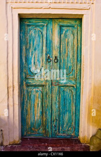 Door of hotel, Djerba, Tunisia - Stock Image