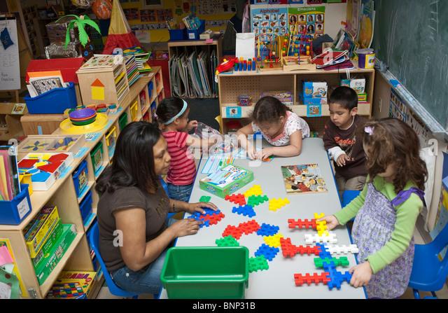 Preschool Classroom - Stock Image