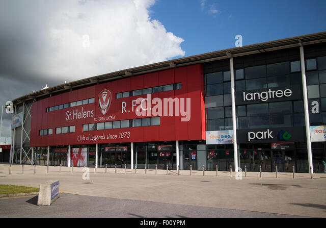 st helens rfc rugby ground langtree park uk - Stock Image