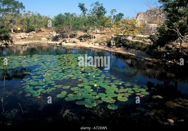 Dzibilchaltun maya mayan tourist attraction - Stock Image