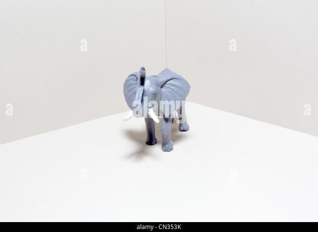 Toy elephant - Stock Image