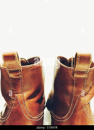 brown shoes - Stock Image