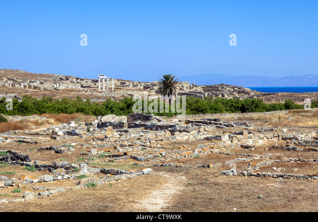 Greece Cyclades Mykonos Island District Stock Photos