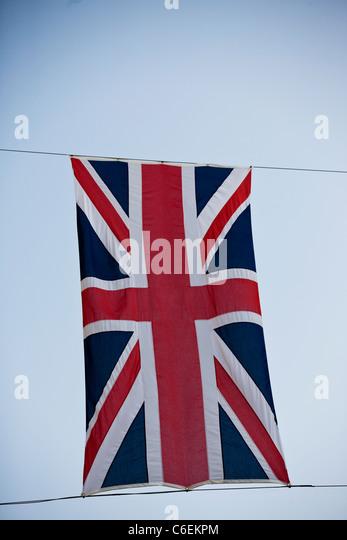 Close-up of a Union Jack flag - Stock Image