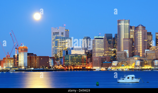 Financial District of Boston, Massachusetts. - Stock Image