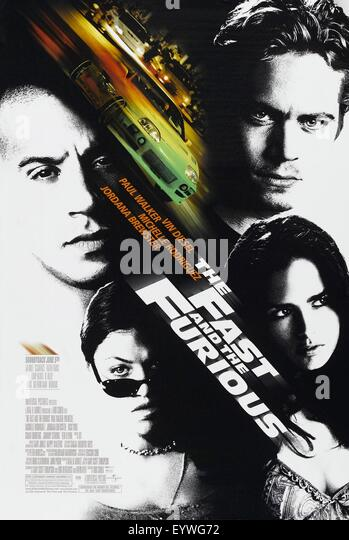 The Fast and the Furious ; Year : 2001 USA ; Director : Rob Cohen ; Vin Diesel, Paul Walker ; Movie poster (USA) - Stock Image
