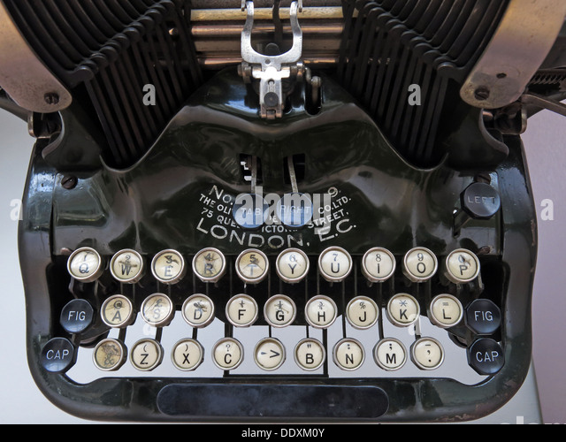 Old Typewriter machine showing keys London EC - Stock Image