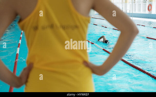 Swimming classes stock photos swimming classes stock - Swimming pool leipzig ...
