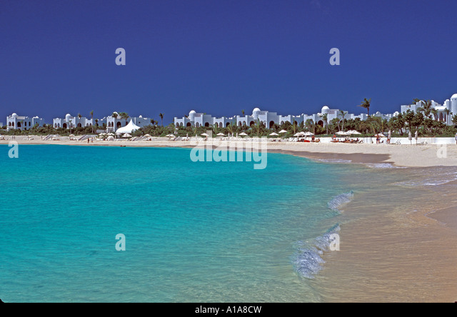 Anguilla beach Cap Juluca resort - Stock Image