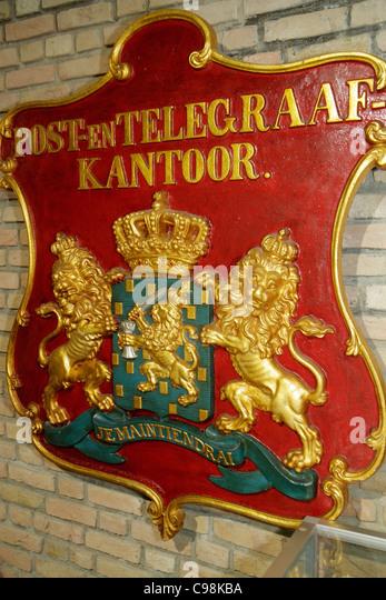 Curaçao Netherlands Antilles Dutch Willemstad Punda Keukenstraat UNESCO World Heritage Site Postal Museum Post - Stock Image