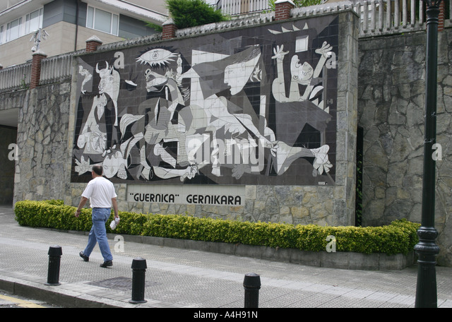 The bombing of guernica stock photos the bombing of for Mural guernica