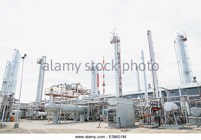 Gas plant - Stock Image