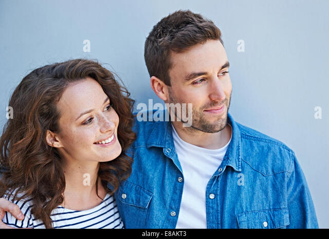 Close up of couple side by side - Stock Image