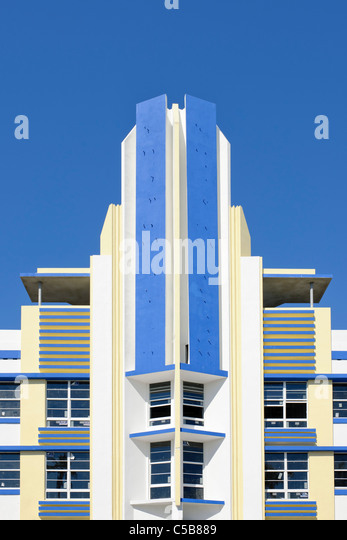 art deco South Beach, Miami - Stock Image