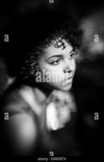 Portrait of female Afro-American - Stock-Bilder