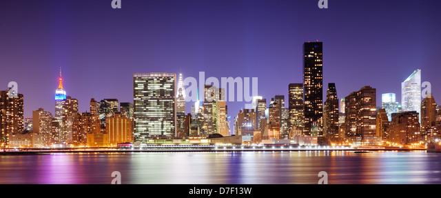 Panorama of midtown New York City - Stock Image