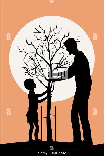 Planting tree - Stock-Bilder