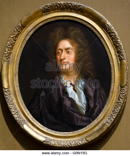 Henry Purcell (1659–1695), the 17th century English composer. Portrait by or after John Closterman, oil on canvas, - Stock Image