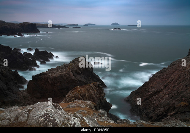 Rubha nan Gearranan with views of Dubth, Sgeir and Craigean, Lewis, Outer Hebrides, Scotland - Stock Image