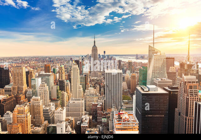 Manhattan aerial view - Stock-Bilder