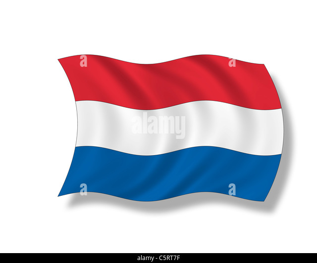 Illustration, Flag, Kingdom of the Netherlands - Stock Image