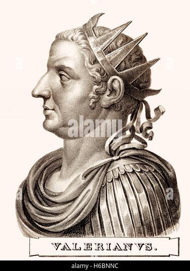 Valerian or Valerian the Elder, Roman Emperor from 253 to 260 - Stock-Bilder