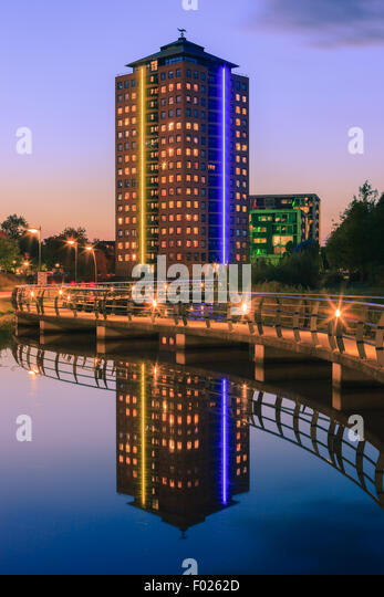 De Maarshorst at Stadskanaal is one of the new architecutural buildings in this old classic town in the north eastern - Stock Image